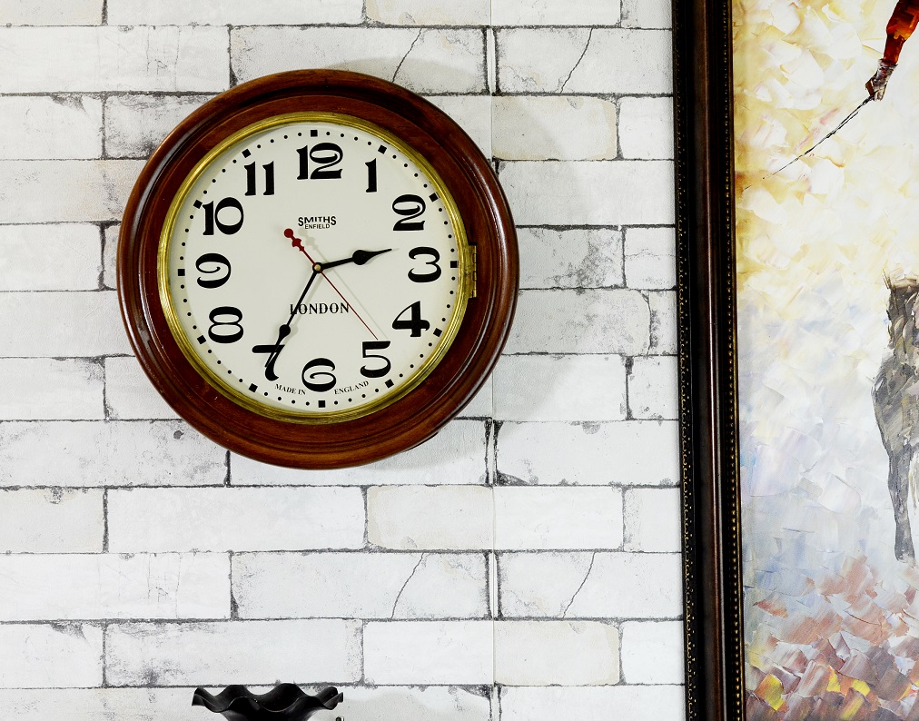 Vintage Style Smiths Enfield Colonial Wall Clock