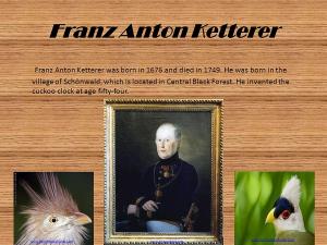 Antikcart Franz Anton Ketterer Founder of Black Forest Cuckoo Clocks History Blog