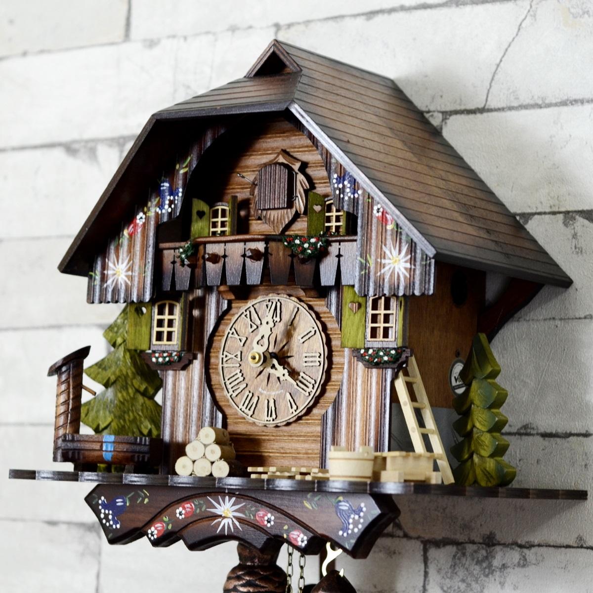Antique 8 Days Bim Bam Black Forest Cuckoo Clock Antikcart