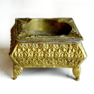 Antikcart Antique Brass Vintage Carved Ash Tray