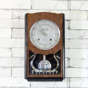 Antikcart Antique Master Bim Bam Silver Frame Pendulum Clock main pic