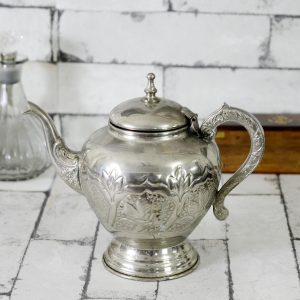 Antikcart Antique Metal Moroccan Style Tea Jug Collectible