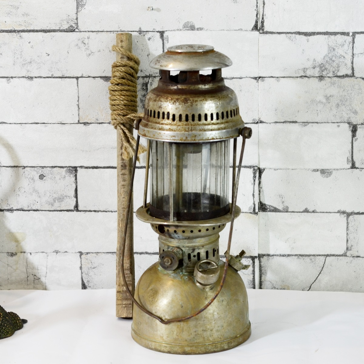 Antikcart Antique Original Petromax Hurricane Lamp decor collectible antique lamp