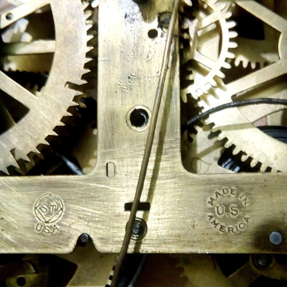 Antikcart Antique Real Seth Thomas Teakwood pendulum clock seth thomas back side