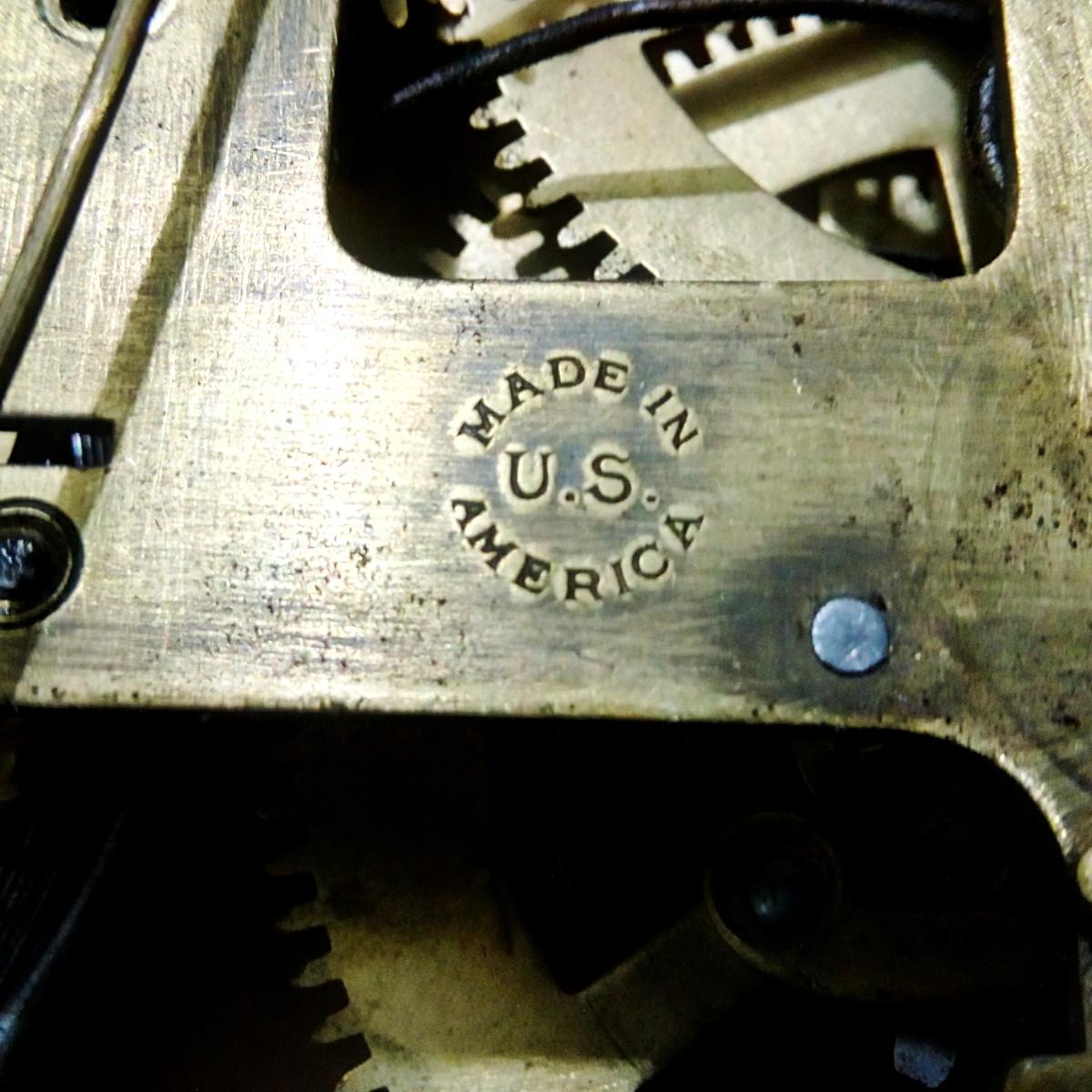 Antikcart Antique Real Seth Thomas Teakwood pendulum clock seth thomas back