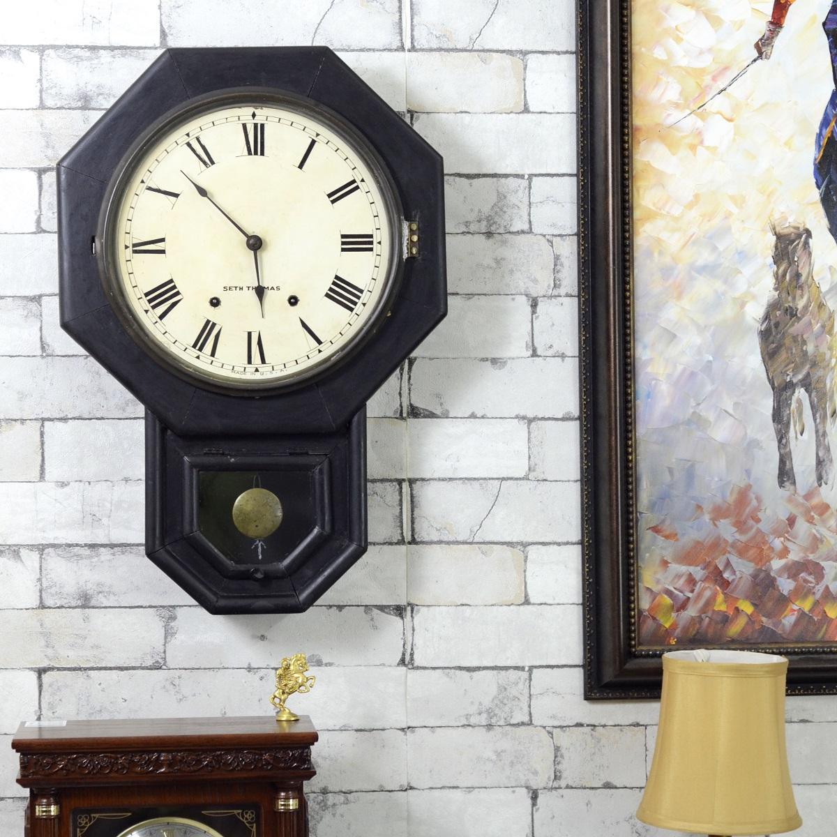 Antikcart Antique Real Seth Thomas Teakwood pendulum clock