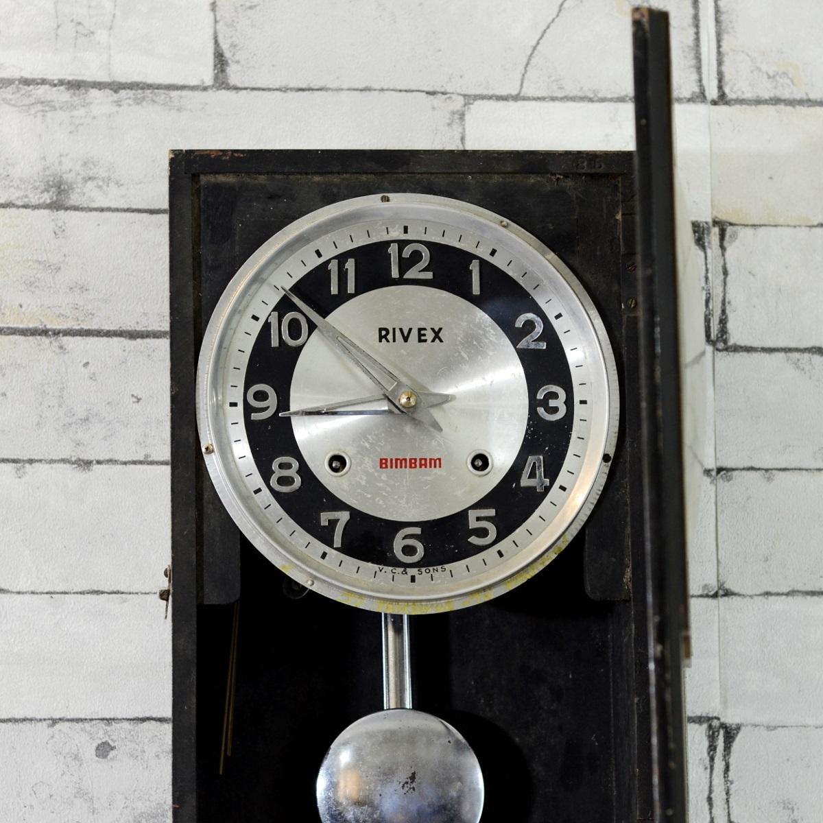 Antique Rivex Bim Bam Pendulum Wall Clock Antikcart