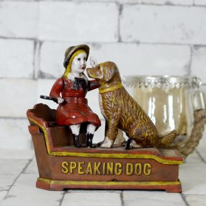 Antikcart Antique Speaking Dog Mechanical Money Bank for Kids view