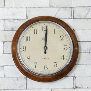 Antikcart Antique Teakwood Frame Union GPO Germany Wall Clock MAIN