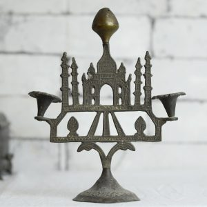 Antikcart Beautiful Handcarved Brass TajMahal Agarbatti Stand