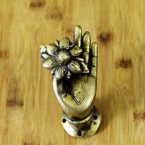 Antikcart Budha Hand with Flower Shaped Door Handle