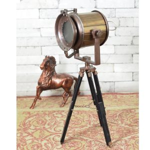 Antikcart Copper Finish Table Tripod Lamp Decor