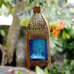 Moroccan Hanging Lantern Antikcart Moroccan Style Beautiful Glass Artwork Small Hanging Lantern PIC view