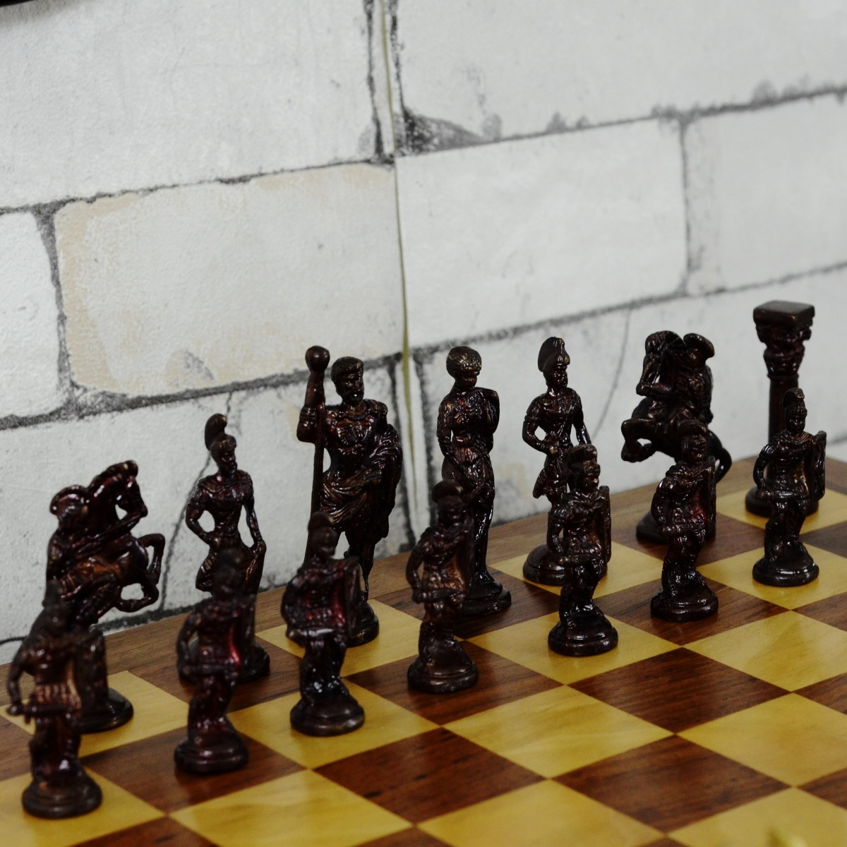 Original Rosewood Chess Set With Brass Pieces Antikcart