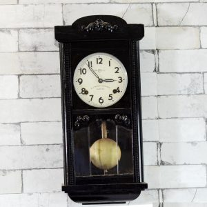 Antikcart Seikosha Mini Tower 1940 Pendulum Wall Clock