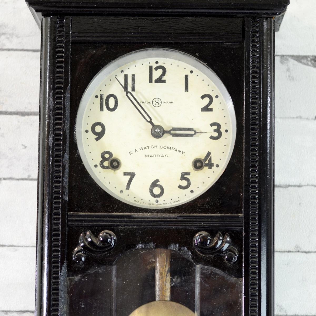 Seikosha mini tower 1940 pendulum wall clock antikcart antikcart seikosha mini tower 1940 pendulum wall clock dial amipublicfo Choice Image