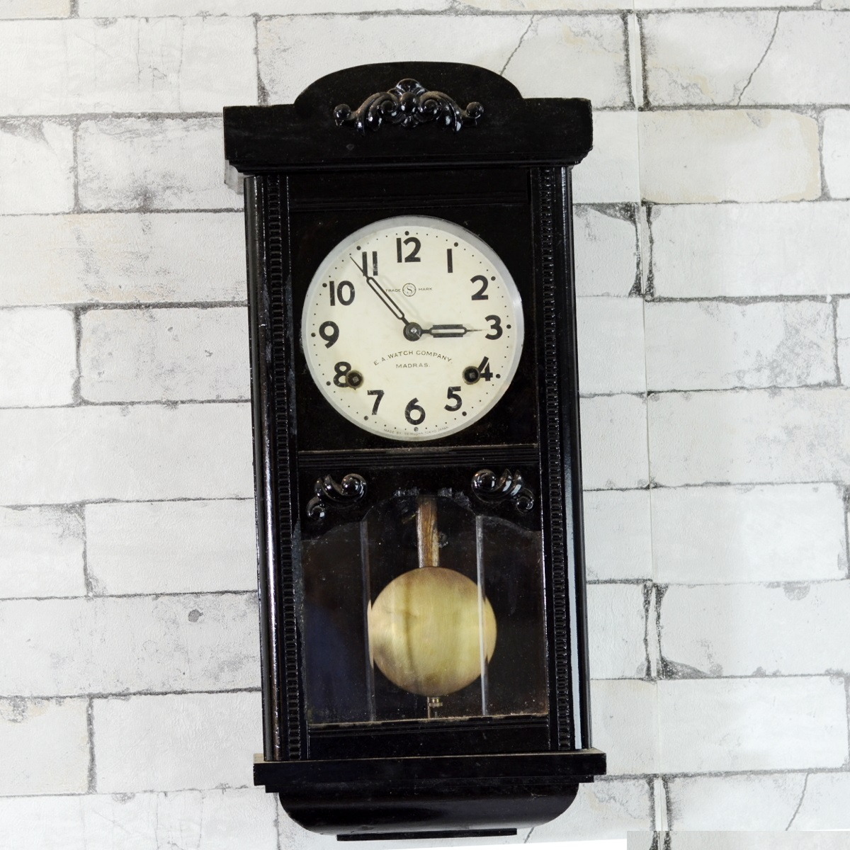 Vintage pendulum wall clock image collections home wall seikosha mini tower 1940 pendulum wall clock antikcart pendulum wall clock sale hover to zoom amipublicfo amipublicfo Choice Image