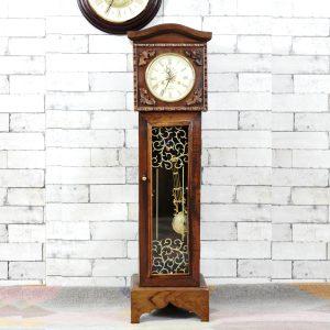 Antikcart Tall Wooden Victorian Tower Pendulum Clock