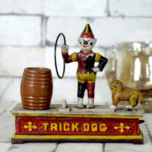 Antikcart Trick Dog Mechanical Antique Money Bank Antique Money BankTOP VIEW