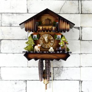 Antikcart 1 day Movement Chalet Style Black Forest Cuckoo Clock
