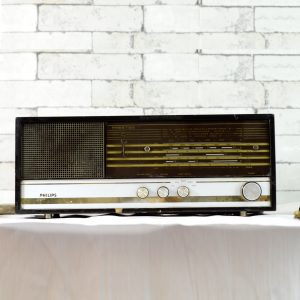 Antikcart Philips Prestige Antique Valve Radio