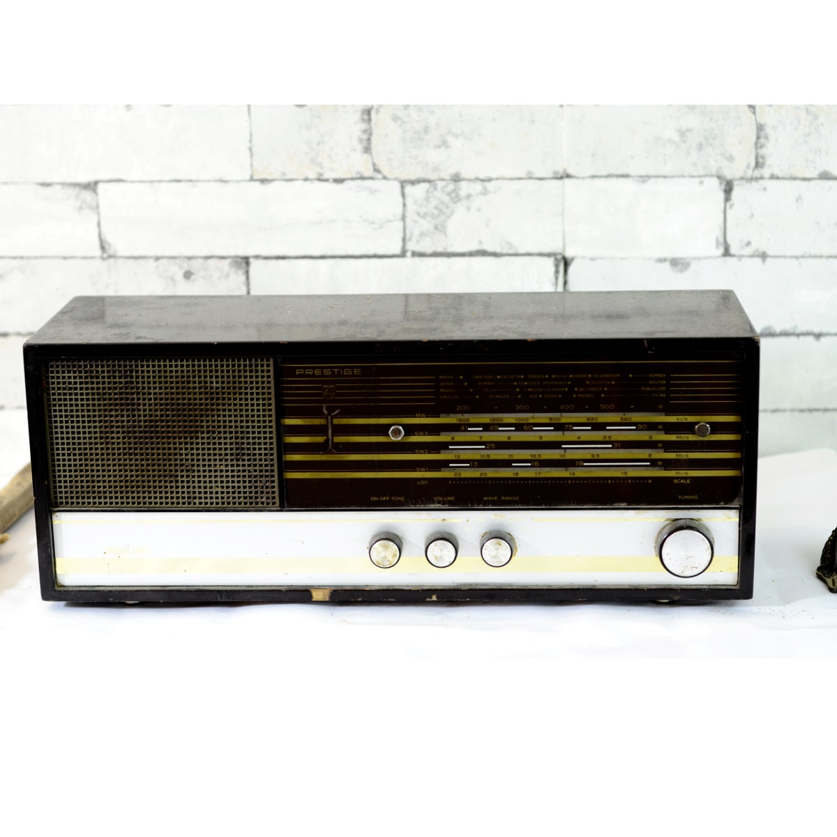 Vintage Philips Prestige Antique Valve Radio Antikcart