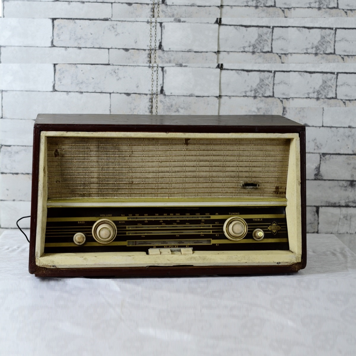Vintage Telerad Antique Valve Radio Collectible Antikcart