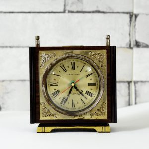 Antique Musical Japanese Table Timepiece Clock