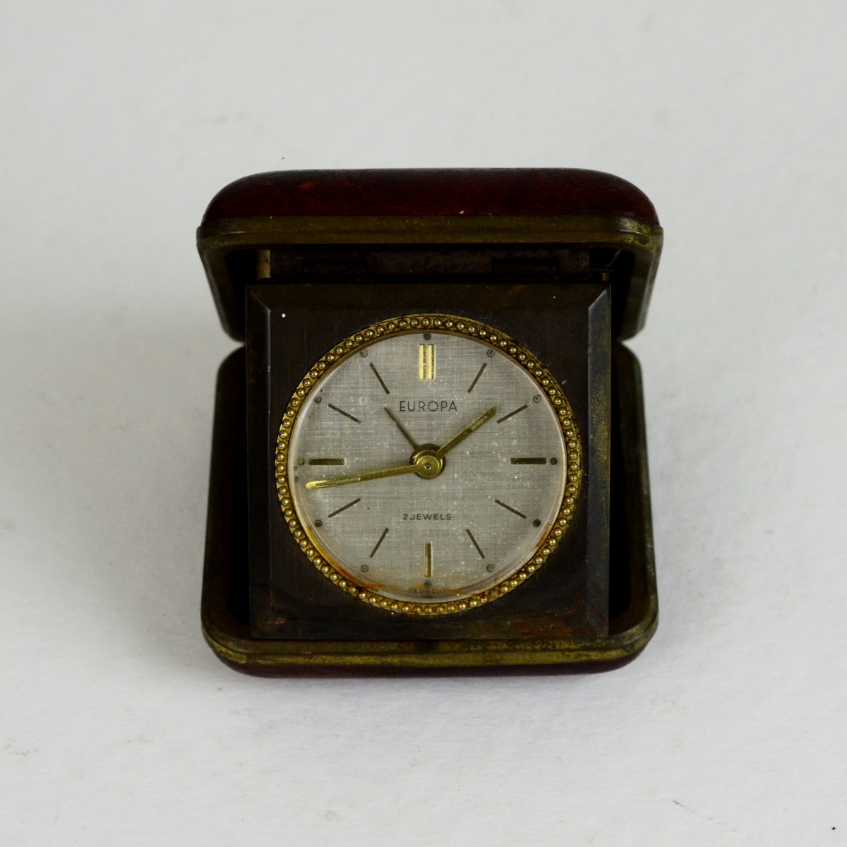 Used Desk For Sale >> Antique German Made Europa Mechanical Carry Alarm Clock ...