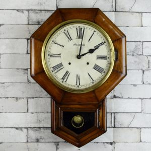 Antikcart Antique Ansonia 22 Inches Big Dial Pendulum Wall Clock