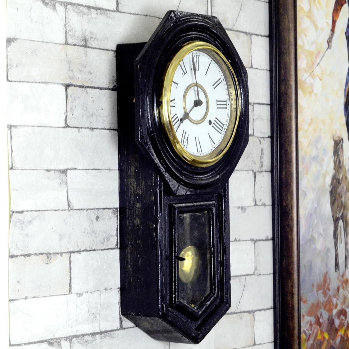Antique Ansonia Made In Usa Bim Bam Wall Clock Antikcart