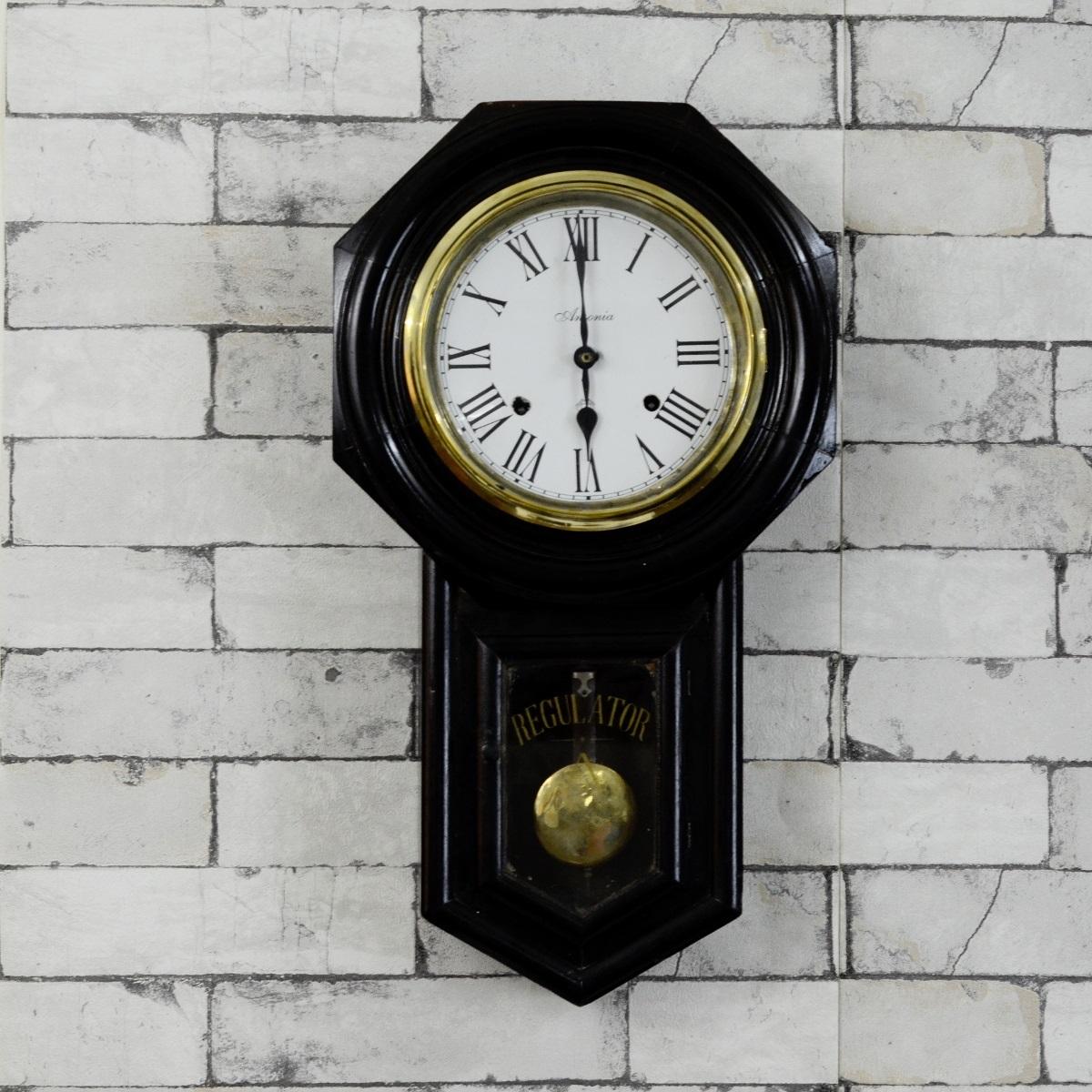 Antique Ansonia Regulator Winding Pendulum Wall Clock