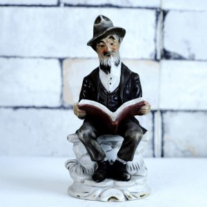 Antikcart Antique Porcelain Figurine of an Old Man - Antique Doll Father Porcelain Statue