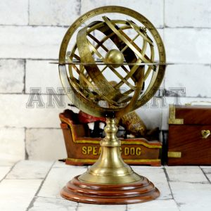 Antikcart 11 Inches Brass Armillary Sphere Desk Decor main pic