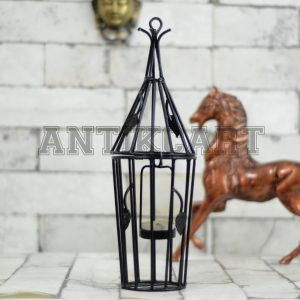 Antikcart Handcrafted Metal Hanging Tea Light Candle Holder