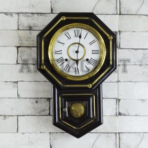Antikcart Original Antique Winding Ansonia USA Wall Clock