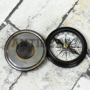 Antikcart Stanley London Pocket Compass with Reverse Lid mount