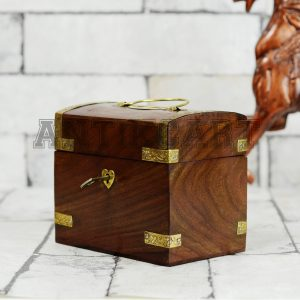 Antikcart Treasure Chest Model Coin Collection Bank SIDE VIEW