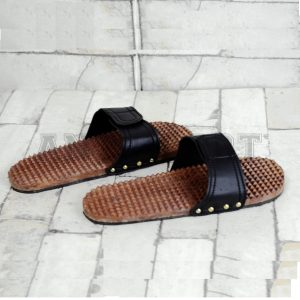 Antikcart Wooden Handcrafted Acupuncture Slippers for Good Health