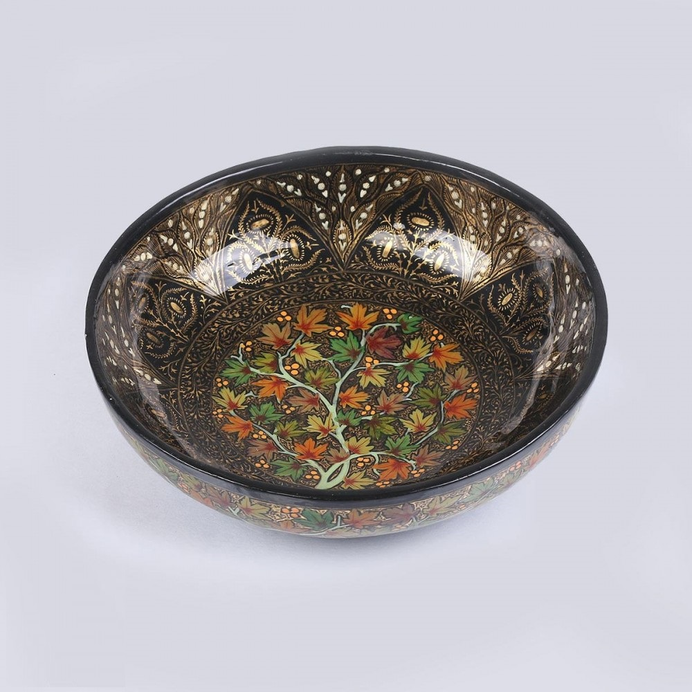 ... Papier Mache Bowl. Sale! Hover to zoom & Handcrafted Floral Pattern Painted Papier Mache Bowl - Antikcart