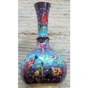 Antikcart Handpainted Kabartma 'tear catcher' Ceramic Decor Vase