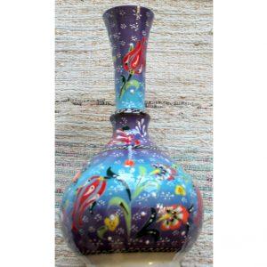 Antikcart Handpainted Kabartma 'tear catcher' Ceramic Decor Vase