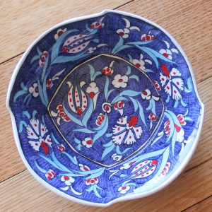 Antikcart 'Samur' Bektasi Wave Ceramic Bowl - Large-blue2-top