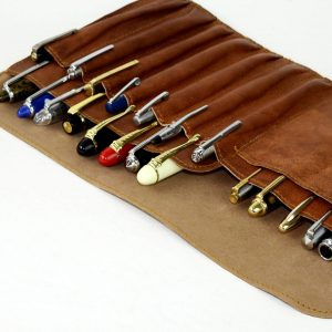 leather fountain pen case