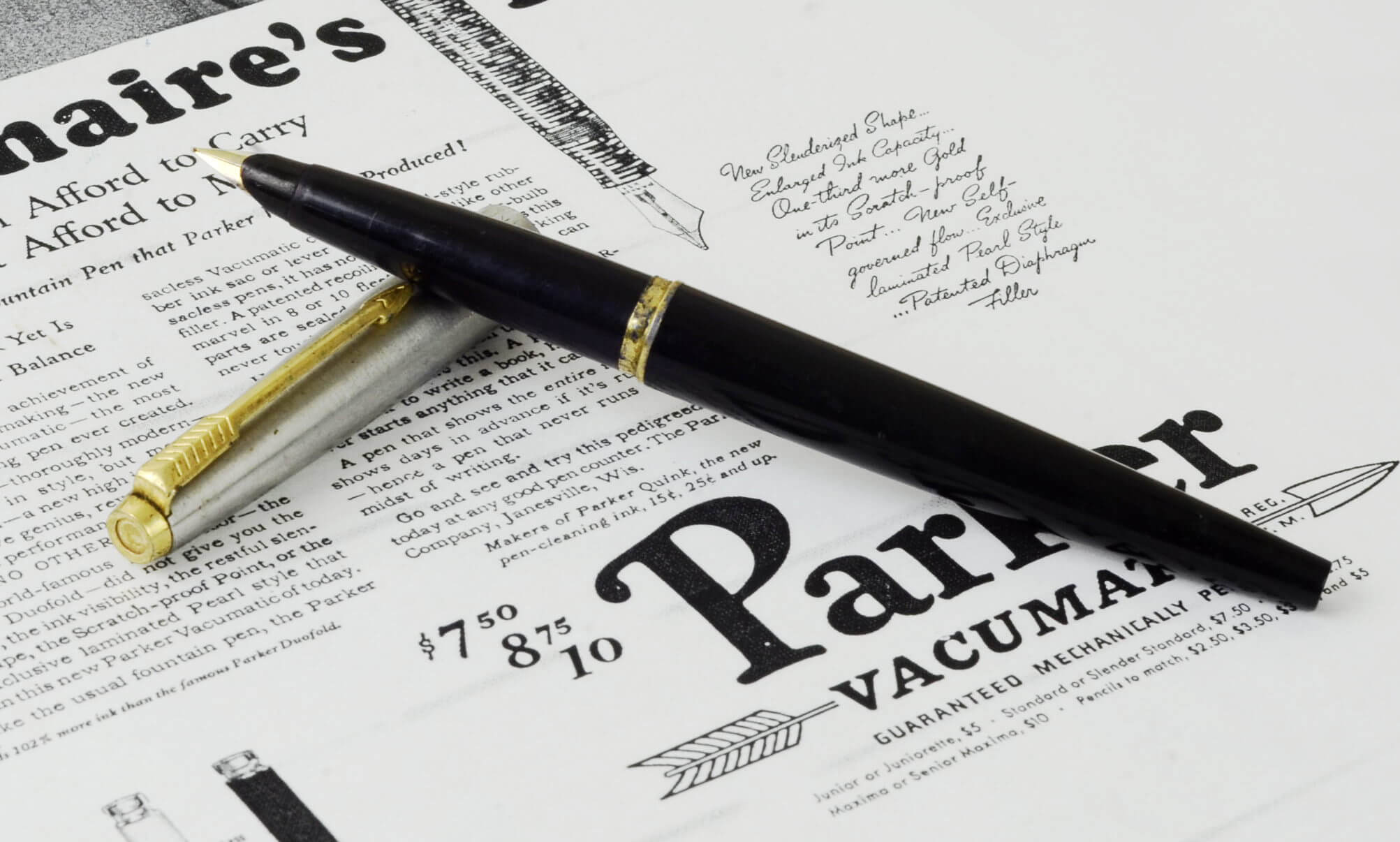 Parker 45 F Nib Vintage Fountain Pen Avaialable Online By