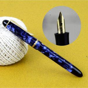 german button filler fountain pen