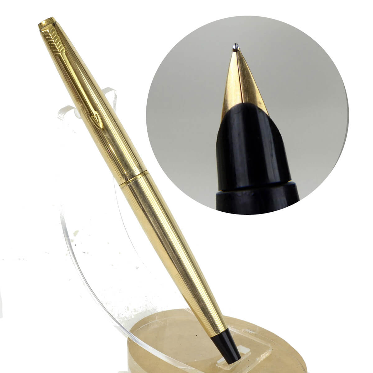 Parker 45 insignia 12K gold filled barrel fountain pen with