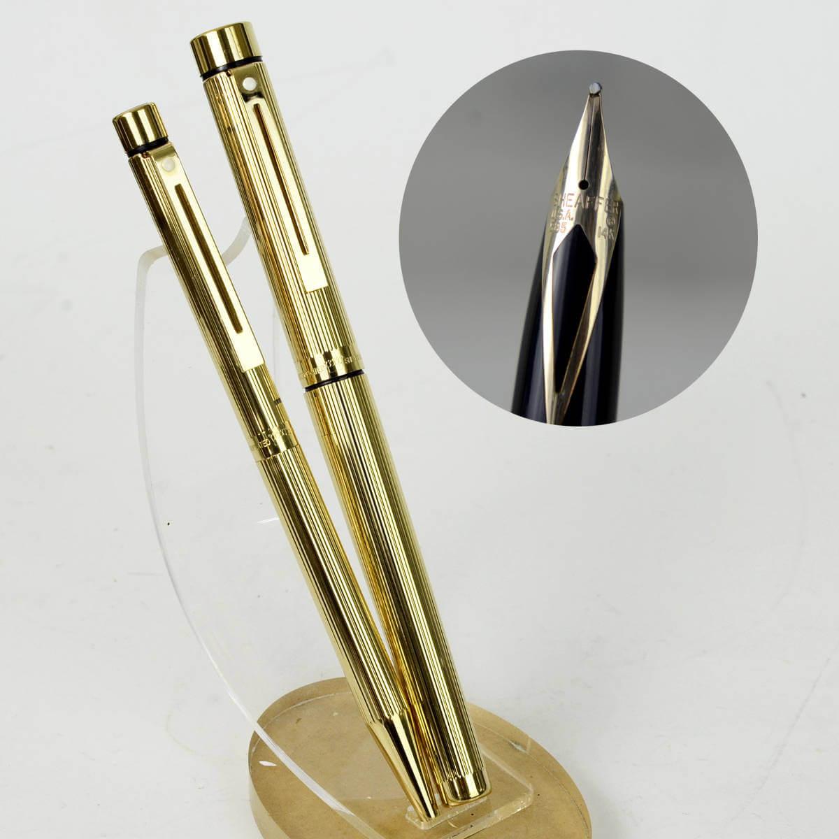 Buy sheaffer targa 1005 set fountain pen and ballpoint with 14k gold b nib