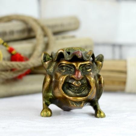 Antikcart Amusing Antique Figurine Brass Ash Tray
