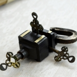 Antique Lock Antikcart Brass Antique Puzzle Lock with 3 keys collectible
